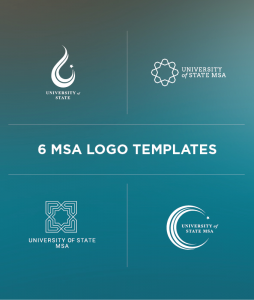 Free Muslim Student Association Islamic Design Logo Template