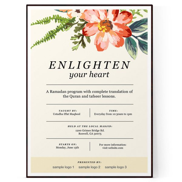 Floral Event Flyer Template
