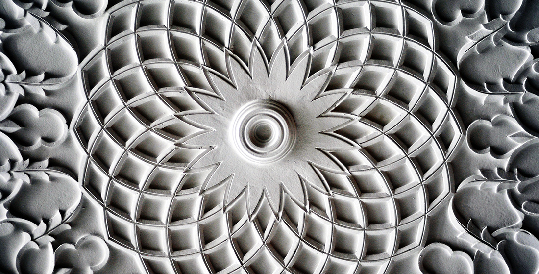 Islamic Photos Free Download: Black and White pattern in stone