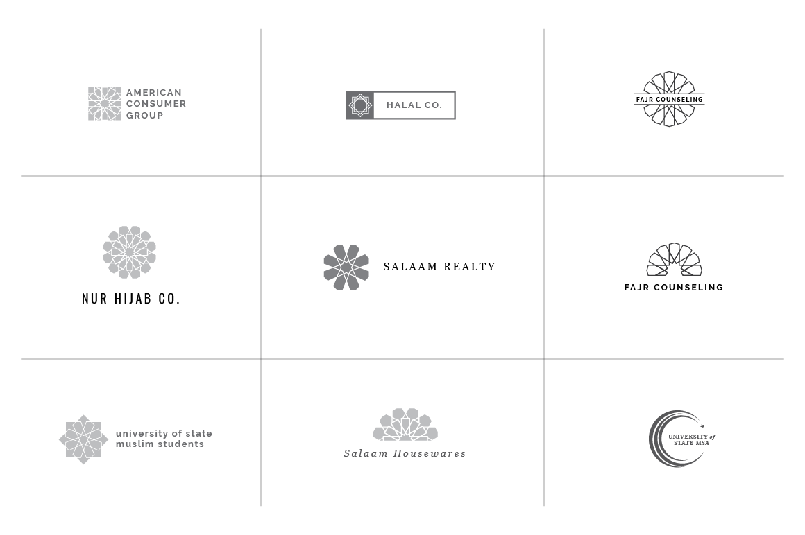 36 Geometric Minimal Logos for Masjids, Muslim Students Associations ...