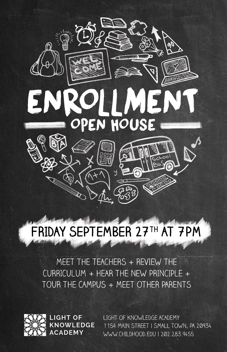 School Open House Flyer Template  Open House Flyer Template