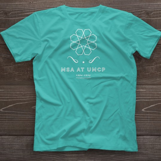 MSA t-shirt design example with a geometric design
