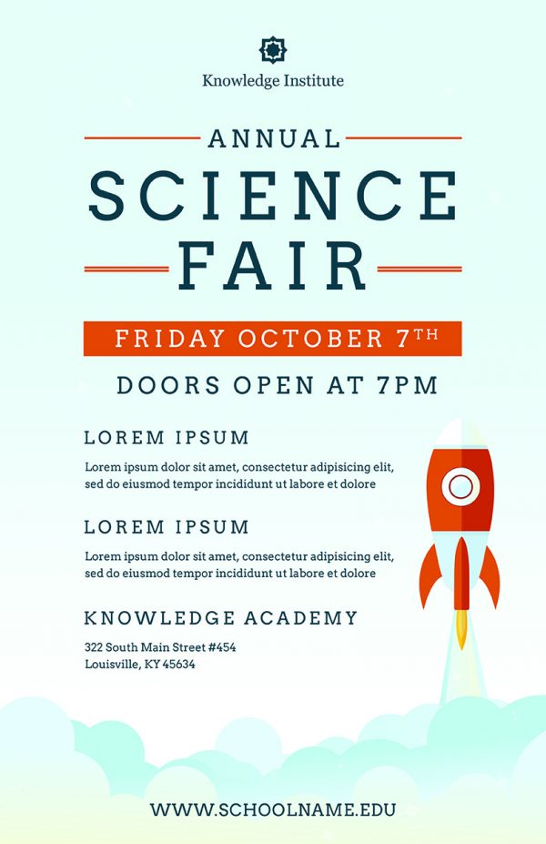 Science Fair Flyer Template