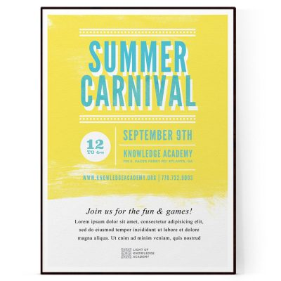 Summer Carnival Flyer Template