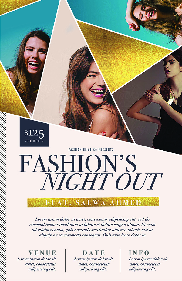 fashion flyers templates for free - geometric gala event flyer template the flyer press