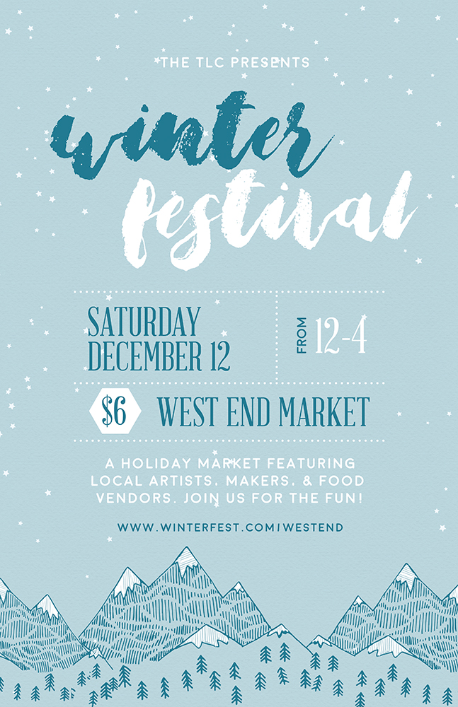Winter Festival Flyer Template Psd  Docx  The Flyer Press