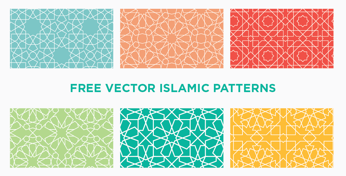 [FREE] 6 Seamless Vector Islamic Geometric Patterns