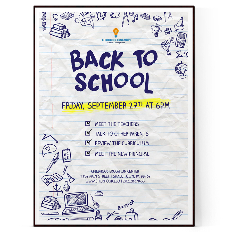 Back To School Flyer Psd Docx The Flyer Press
