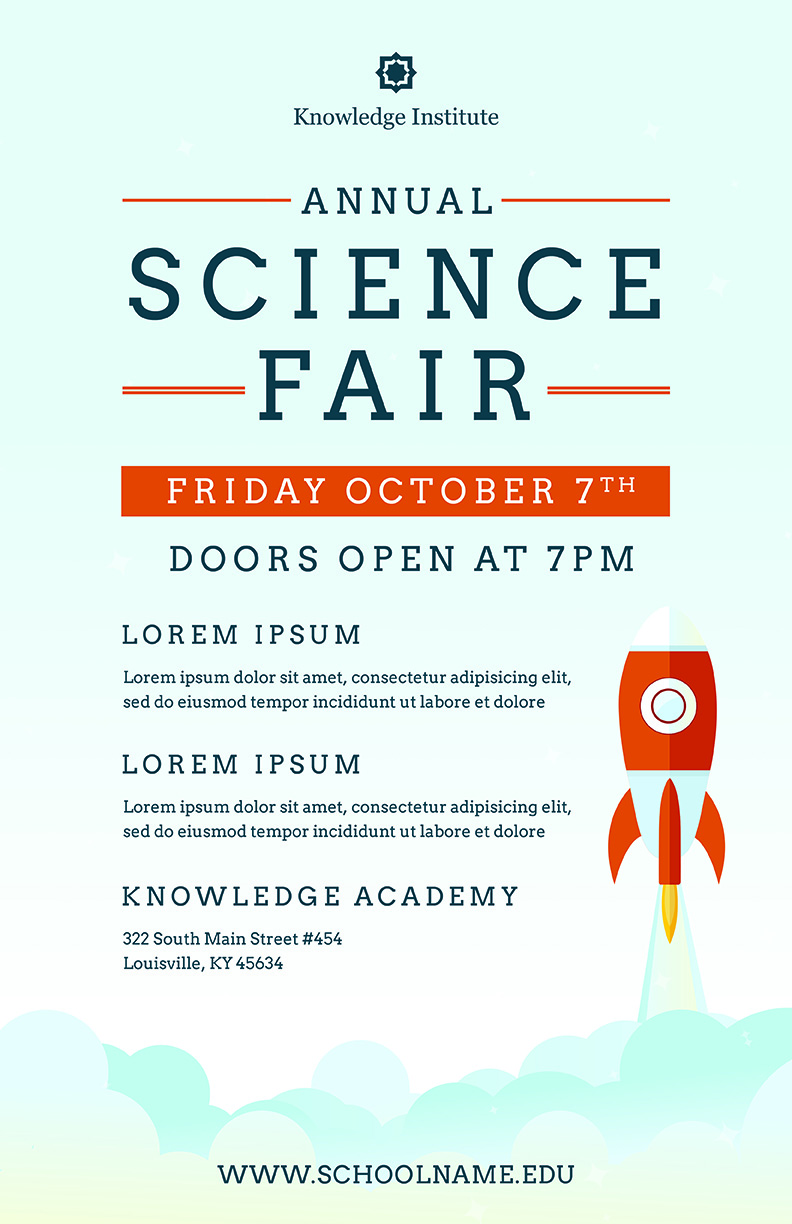 Science Fair Flyer Template (PSD + DOCX) | The Flyer Press