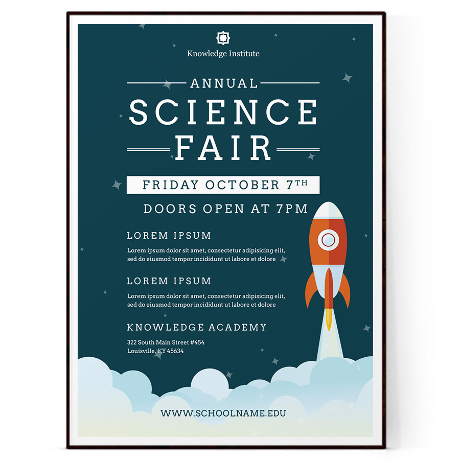 science fair flyer template  psd   docx
