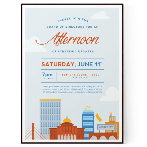 Blank Event Flyer Template