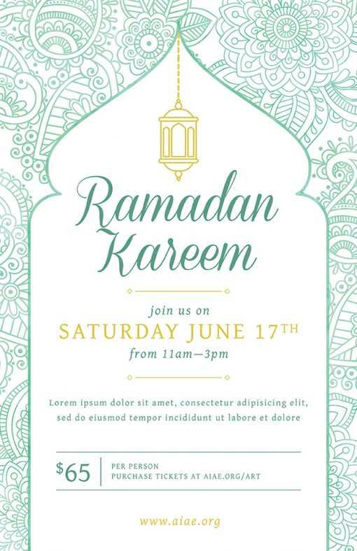 Light Ramadan Event Flyer Template