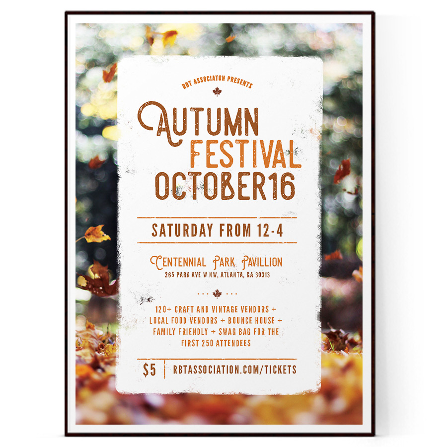 fall festival flyer template  psd   docx