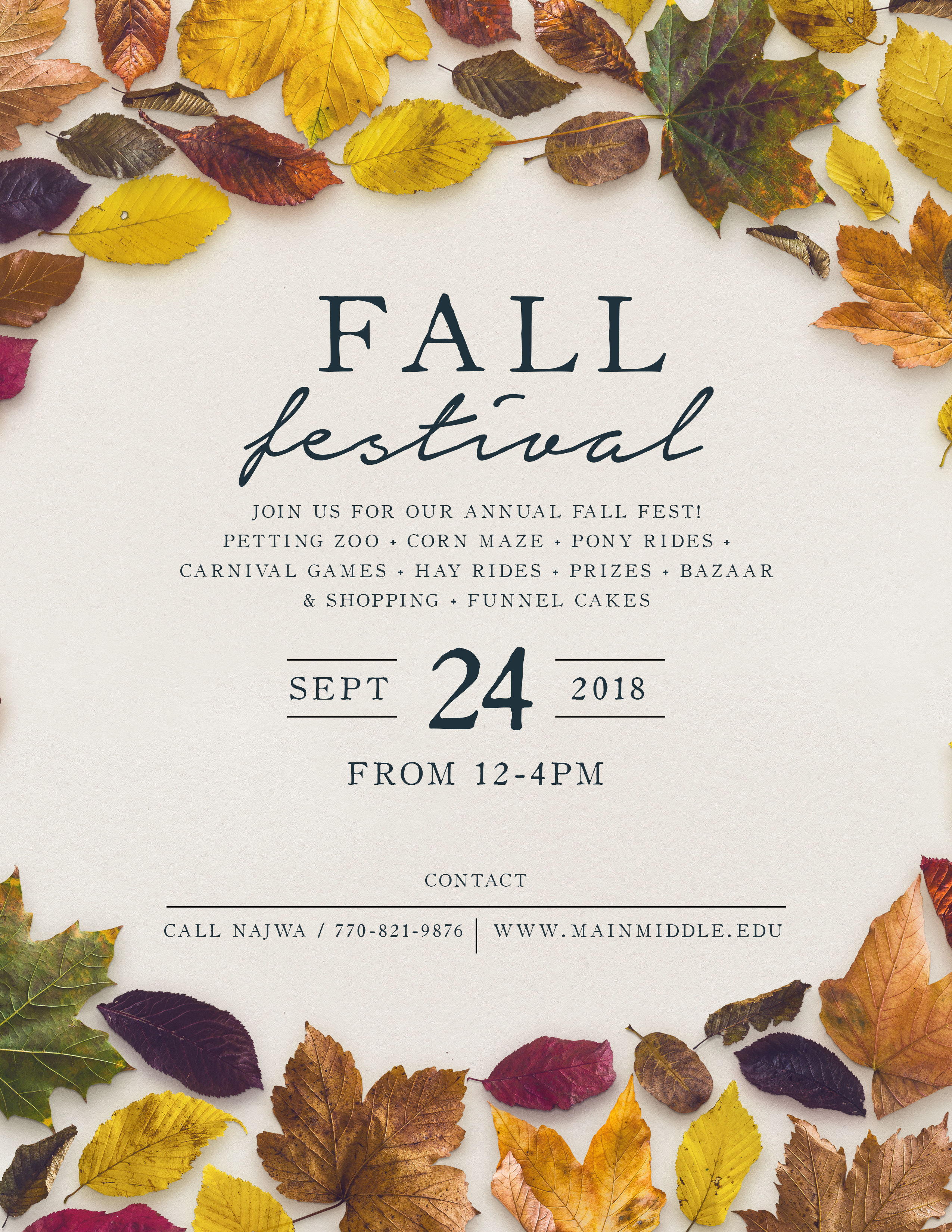 Invaluable image with regard to free printable fall festival flyer templates