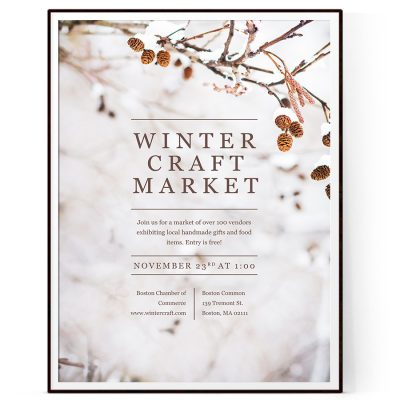 Winter Craft Fair Flyer